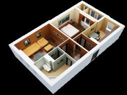 Квартира в беспроцентную рассрочку,5-й микрорайон!