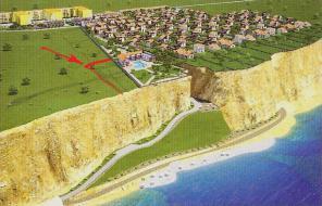 Строительство дома в Севастополе. Коттедж расположен на первой линии от моря, для строительства коттеджа всё готово.