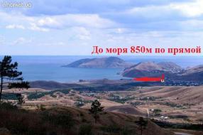 Дача 850 м от моря, между Феодосией и Коктебелем, 2 эт., 6х7, 4 сот., жилая